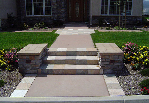 Front Entry Pathway in San Marcos