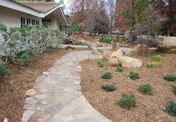 Natural Stone Pathway in Vista, CA