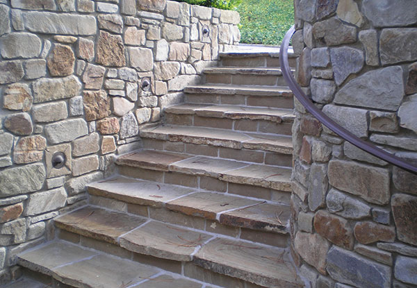 Stone Paved Stairway in La Jolla, CA
