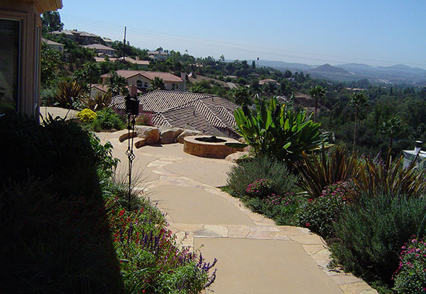 Natural Stone Fire Pits Installed in Escondido, CA