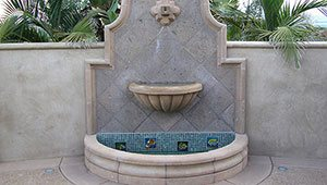 Outdoor Wall Water Fountain Landscaping