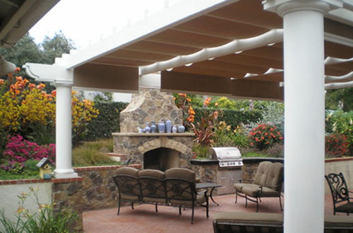Natural Stone Work U0026 Specialty Plants Outdoor Fireplace Installation  Encinitas