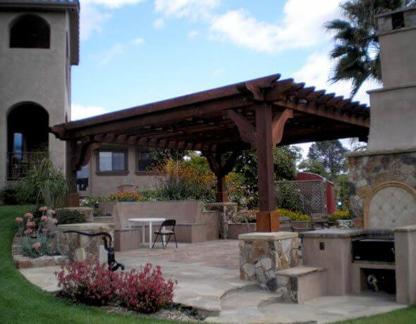 Large Wooden Patio Covers
